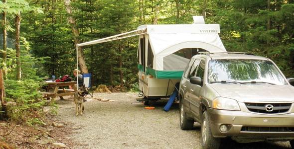 camping en véhicule récréatif au Parc régional du Massif du Sud