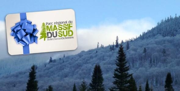 Certificat-cadeau hiver Parc régional du Massif du Sud