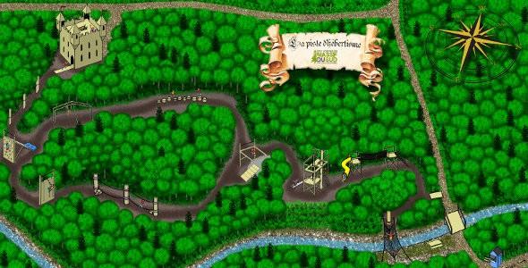 carte de la piste d'hébertisme