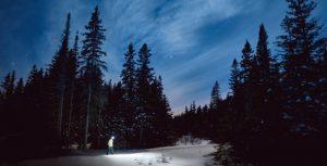 randonnée hivernale nocturne