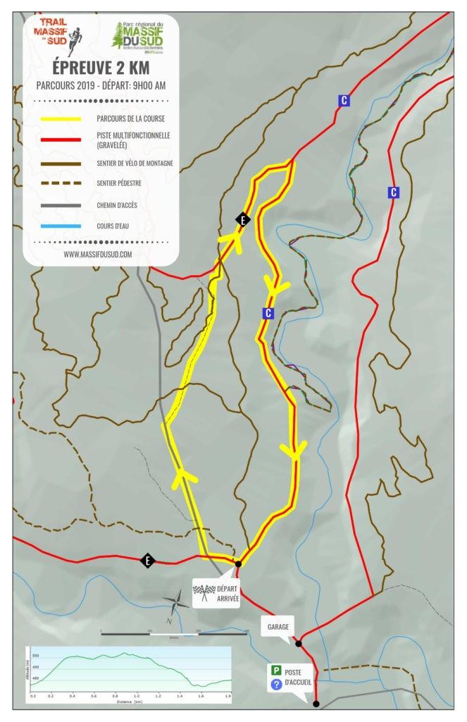 Carte épreuve 2 km