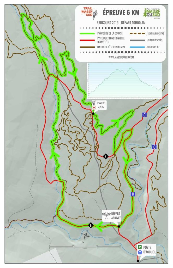 Carte épreuve 6 km