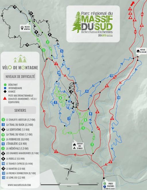 carte vélo de montagne 2019