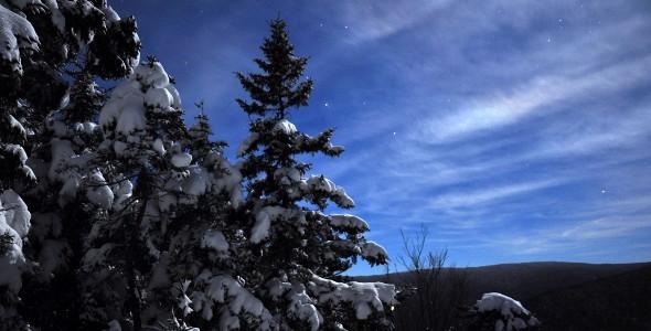 Ciel étoilé hiver mont Chocolat