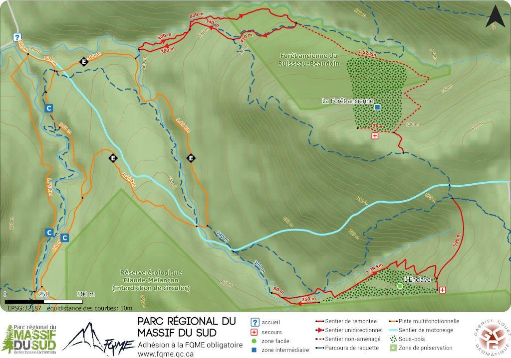 Carte ski de montagne