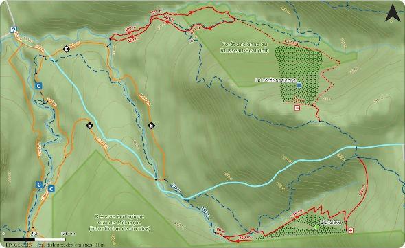 Carte du ski de montagne