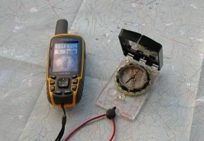 carte, boussole et GPS